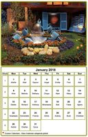 February 2018 calendar with picture at the top