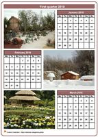 2018 quarterly calendar with one photo per month