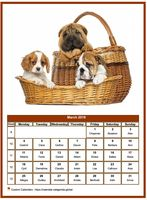 March 2019 calendar of serie 'dogs'