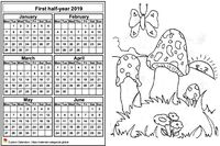 2019 semi-annual coloring calendar