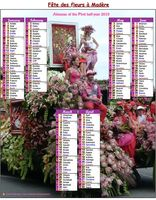 Photo calendar biannul festival of flowers in Madeira
