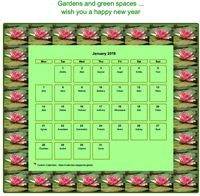 Calendar may 2019 water lily patterns