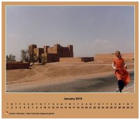 Calendar monthly horizontal with photo