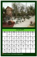 Monthly calendar 2019 with a different photo each month