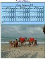 Quarterly calendar format portrait with photo