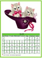 May calendar of serie 'cats'