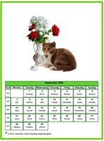 September calendar of serie 'cats'
