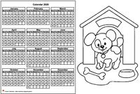 Annual coloring schedule 2020