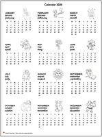 Annual calendar primary school 2020