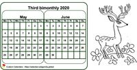 Two-month 2020 coloring calendar