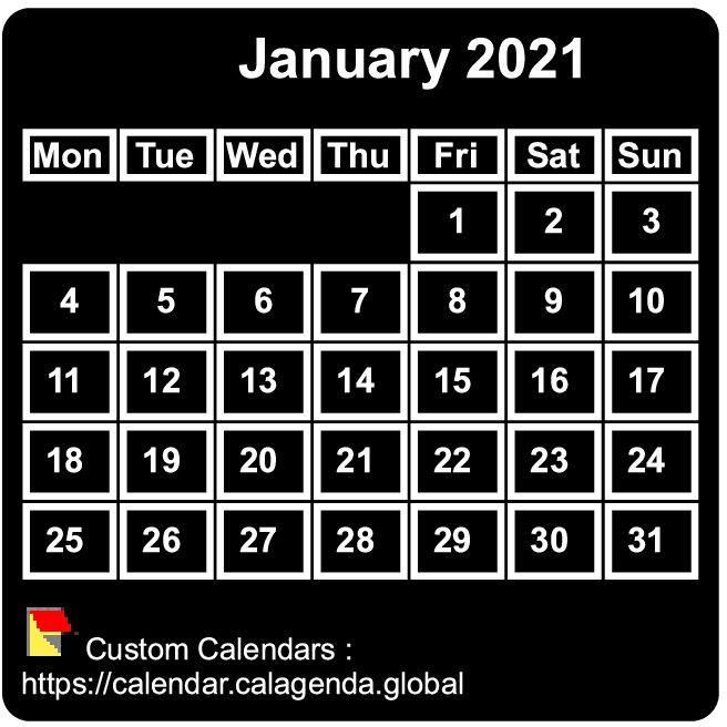 Pictures of Pocket Size Calendar 2021