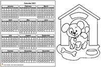 Annual coloring schedule 2021