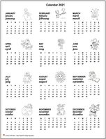 Annual calendar primary school 2021