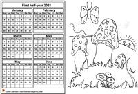 2021 semi-annual coloring calendar