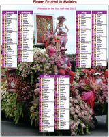 2021 photo calendar biannul festival of flowers in Madeira