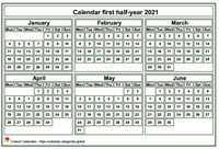 2021 semi-annual mini white calendar
