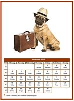 Monthly calendar of serie 'Dogs'