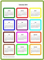 2022 annual color calendar
