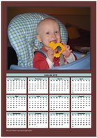 Annual calendar with family photo