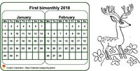 Two-month 2023 coloring calendar