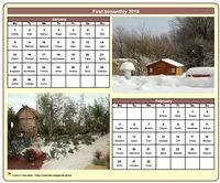 2023 two-month calendar with a different photo each month