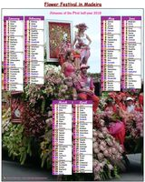 2017 photo calendar biannul festival of flowers in Madeira