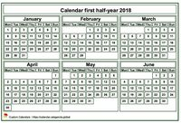 2017 semi-annual mini white calendar